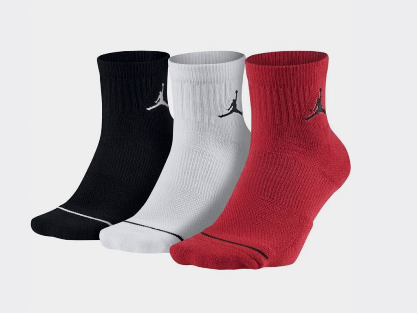 Носки Air Jordan Jumpman Quarter (3 пары) / black, white, red