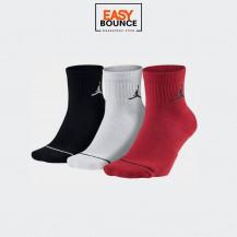 Носки Air Jordan Jumpman Quarter (3 пары) / black, white, red