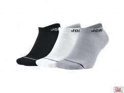 Носки Air Jordan Jumpman No-show socks, Black/White/Wolf Grey
