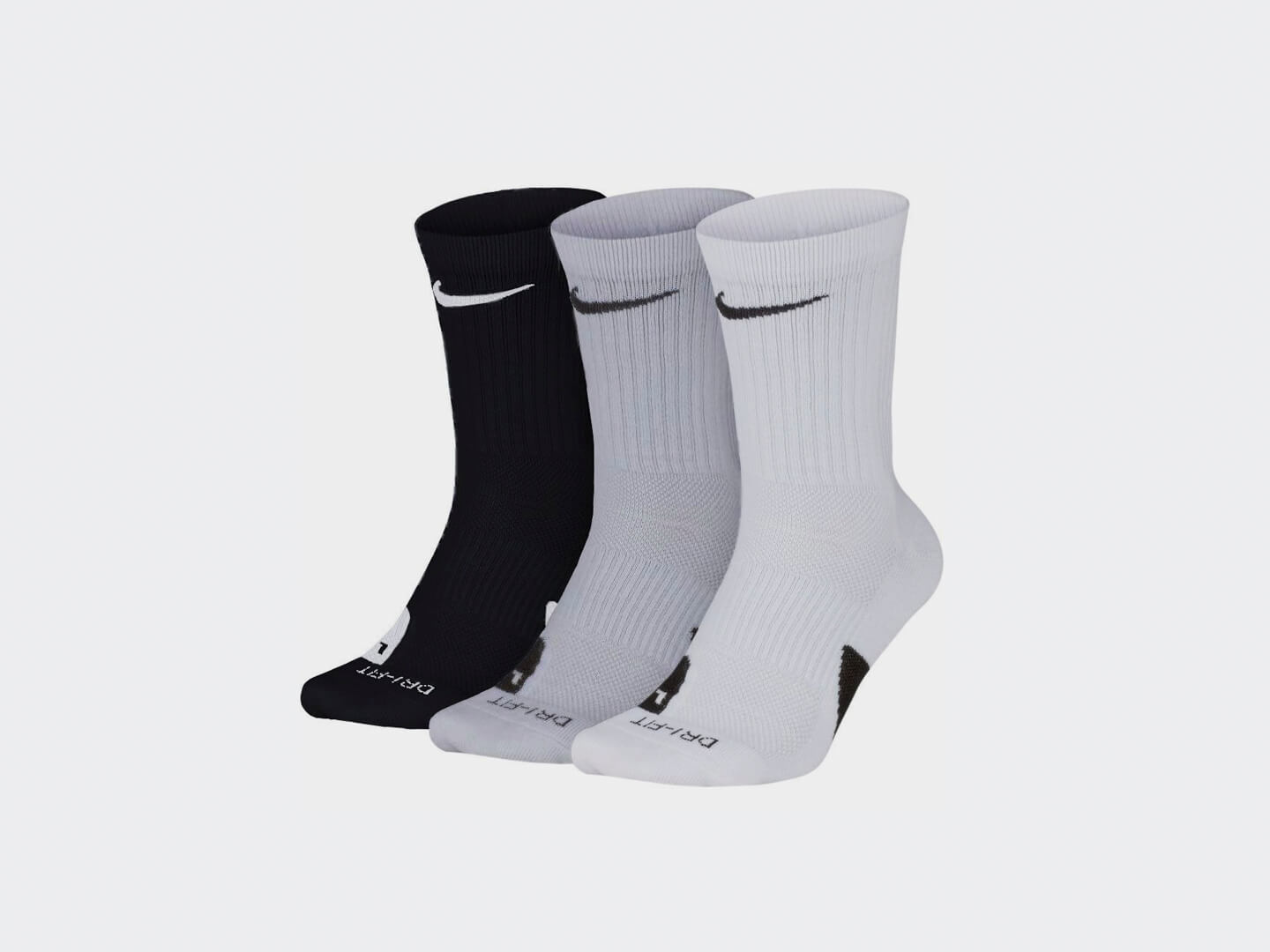 Носки Nike Elite Crew 3PR / black, white, grey