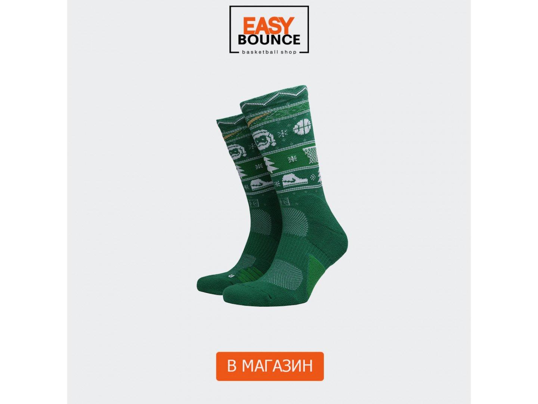 Мужские носки Nike Elite Crew XMAS, green