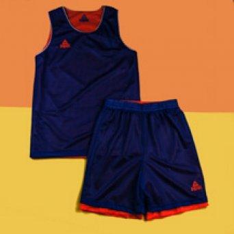 Двухсторонняя форма PEAK Basketball reversible, blue/orange