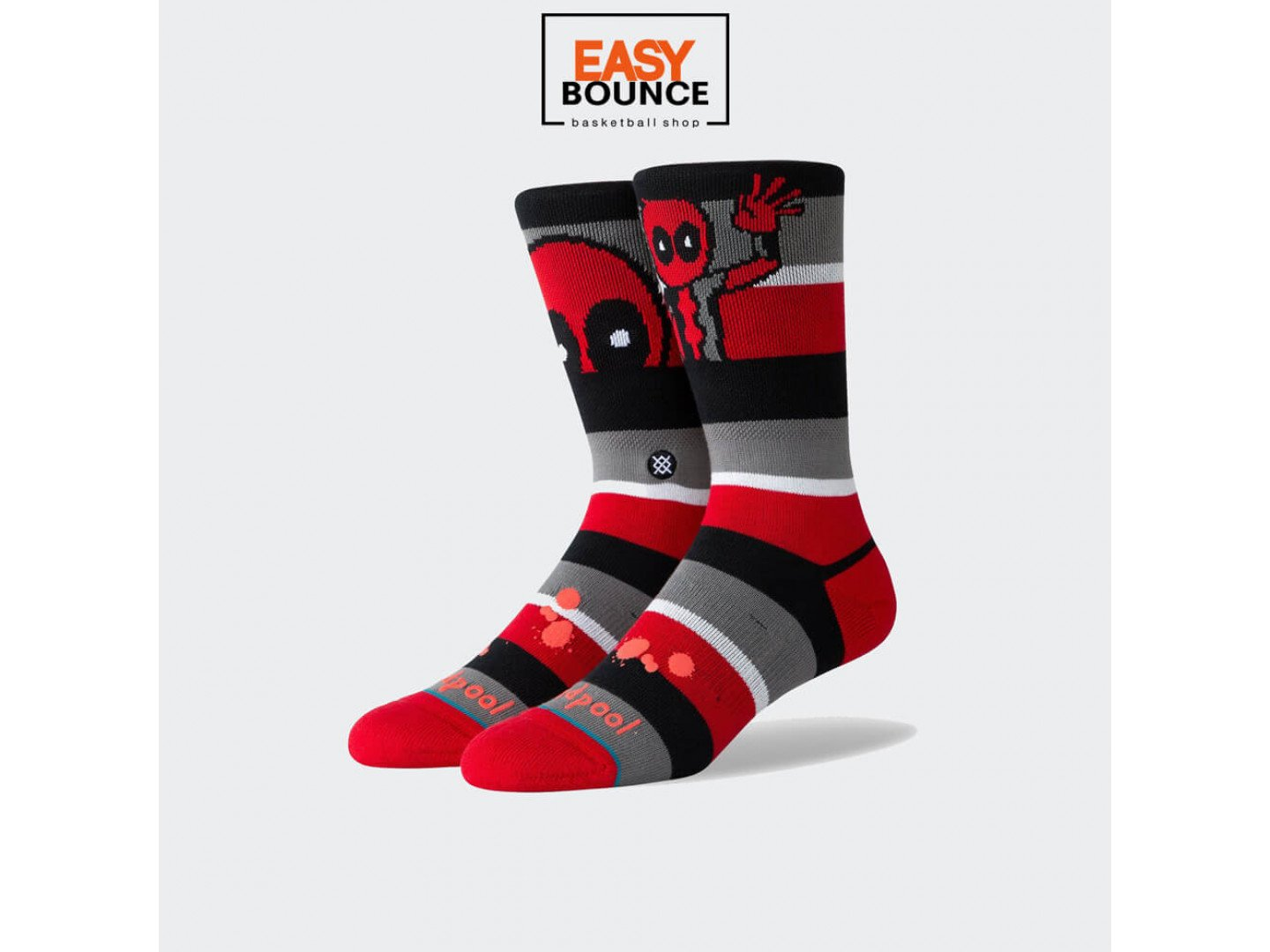 Мужские носки Stance Disney Mens Deadpool Stripe