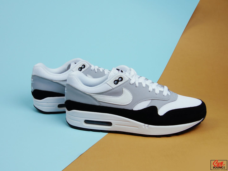 Мужские кроссовки Nike Air Max 1/ wolf grey, white