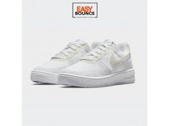 Кроссовки Nike Air Force 1 Crater Flyknit (GS) / white, sail, wolf grey, white