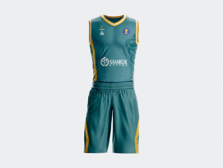 """Форма Peak ПБК """"Астана"""" Лига ВТБ сезон 2020-2021 (гостевая)  / turquoise"""